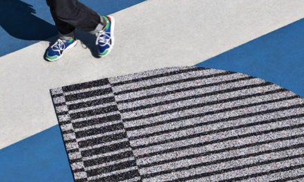 Adidas trainers change their stripes with recycled rugs