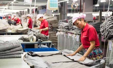 Textile production of China increases